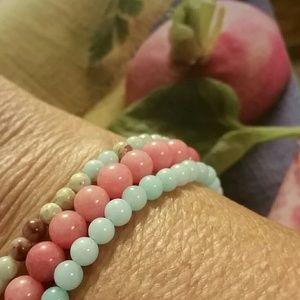 Jewelry - 3 yummy Amazonite bracelets